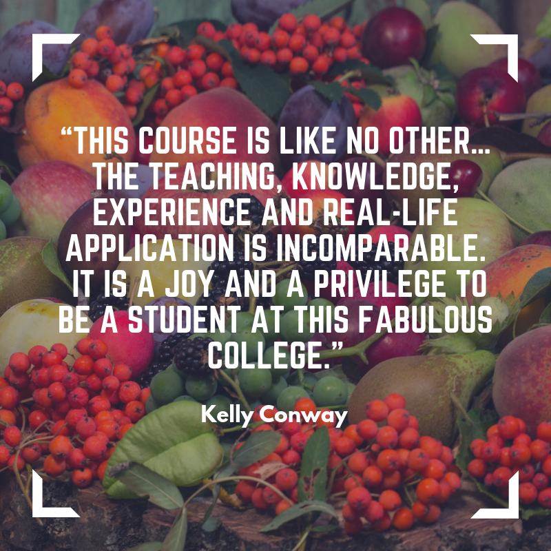 Kelly Conway about homeopathy course